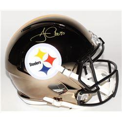 James Conner Signed Pittsburgh Steelers Full-Size Chrome Speed Helmet (Beckett COA)