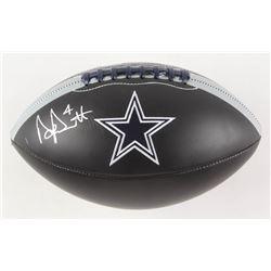 Dak Prescott Signed Dallas Cowboys Logo Football (Beckett COA  Prescott Hologram)