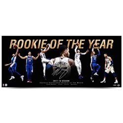 "Ben Simmons Signed Philadelphia 76ers ""Rookie Of The Year"" 15x36 Photo (UDA COA)"
