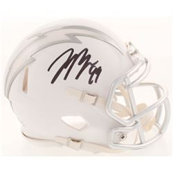 Joey Bosa Signed Los Angeles Chargers White ICE Mini Speed Helmet (Beckett COA)