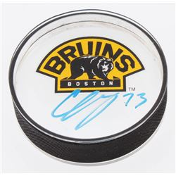 Charlie McAvoy Signed Boston Bruins Acrylic Hockey Puck (Your Sports Memorabilia Store COA)