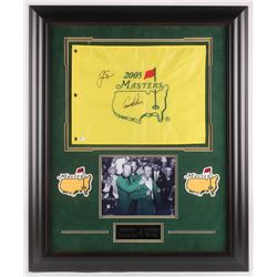 "Arnold Palmer  Jack Nicklaus Signed ""The Masters"" 29x35 Custom Framed Pin Flag Display (JSA LOA)"