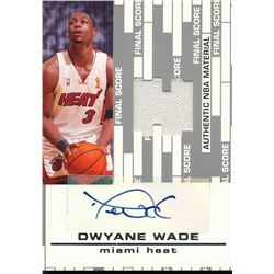 2006-07 Topps Big Game Final Score Relics Autographs #DW Dwyane Wade