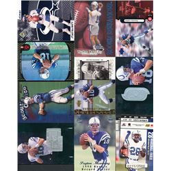 Lot of (10) Assorted 1998 Peyton Manning Football Cards