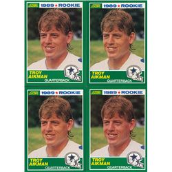 Lot of (4) 1989 Score #270 Troy Aikman RC