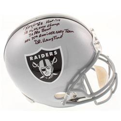 Ray Guy Signed Oakland Raiders Full-Size Helmet with Multiple Inscriptions (Radtke COA)