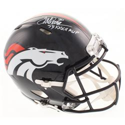 "Terrell Davis Signed Denver Broncos Full-Size Authentic On-Field Speed Helmet Inscribed ""SB XXXII MV"