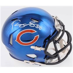 Roquan Smith Signed Chicago Bears Chrome Speed Mini Helmet (Radtke COA)
