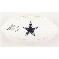 Leighton Vander Esch Signed Dallas Cowboys Logo Football (Radtke COA)