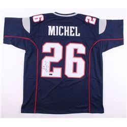 Sony Michel Signed Jersey (Radtke COA)