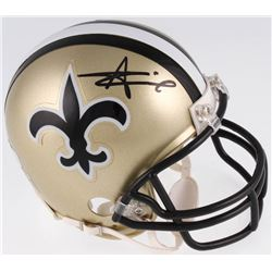 Alvin Kamara Signed New Orleans Saints Throwback Mini Helmet (Radtke COA)