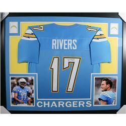 Philip Rivers Signed 35x43 Custom Framed Jersey (Beckett COA)