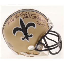 "Morten Andersen Signed New Orleans Saints Mini Helmet Inscribed ""Hall Of Fame 2017"" (Radtke COA)"