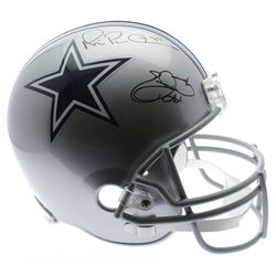 Emmitt Smith  Michael Irvin Signed Dallas Cowboys Full-Size Helmet (PSA COA)
