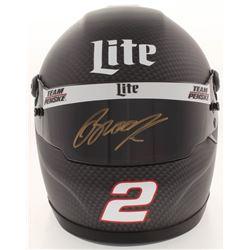 Brad Keselowski Signed NASCAR Miller Lite 1:3 Scale Mini-Helmet (PA COA)