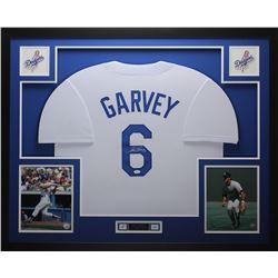Steve Garvey Signed 35x43 Custom Framed Jersey (JSA COA)
