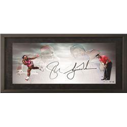 Tiger Woods  Serena Williams Signed 18x36 Custom Framed Limited Edition Photo (UDA COA)