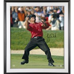 Tiger Woods Signed 30x40 Custom Framed Photo (UDA COA)