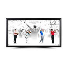 "Tiger Woods Signed ""Victory"" 18x36 Custom Framed Limited Edition Photo (UDA COA)"
