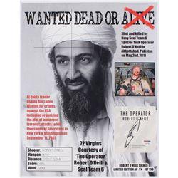 "Robert J. O'Neill Signed LE ""Bin Laden Wanted Dead or Alive"" 13x16 Print (PSA COA)"