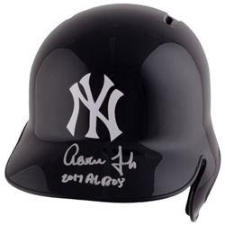 "Aaron Judge Signed New York Yankees Full-Size Batting Helmet Inscribed ""2017 AL ROY"" (Fanatics Holog"