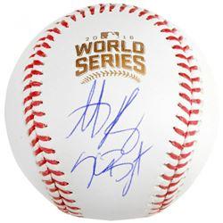 Kris Bryant  Anthony Rizzo Signed 2016 World Series Logo Baseball (Fanatics Hologram)