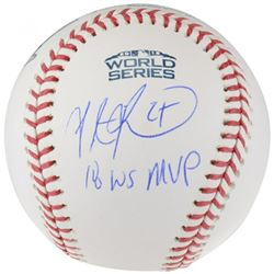 "Steve Pearce Signed 2018 World Series Baseball Inscribed ""18 WS MVP"" (Fanatics Hologram)"