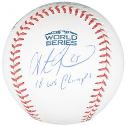 "Steve Pearce Signed 2018 World Series Baseball Inscribed ""18 WS Champs"" (Fanatics Hologram)"