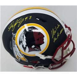 Dwayne Haskins Signed Washington Redskins Full-Size Matte Black Authentic On-Field Speed Helmet Insc