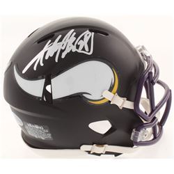Adrian Peterson Signed Minnesota Vikings Matte Black Mini Speed Helmet (Beckett COA)