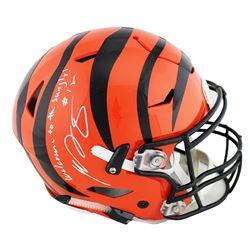 "AJ Green Signed Cincinnati Bengals Full-Size Authentic On-Field SpeedFlex Helmet Inscribed ""Welcome"