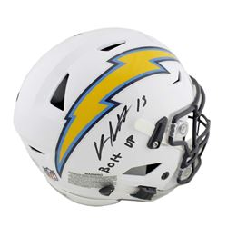 """Keenan Allen Signed Los Angeles Chargers Full-Size Authentic On-Field SpeedFlex Helmet Inscribed """"Bo"""