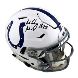 Marlon Mack Signed Indianapolis Colts Full-Size Authentic On-Field SpeedFlex Helmet (Radtke COA)
