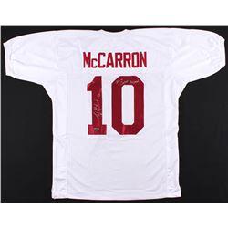 "AJ McCarron Signed Jersey Inscribed ""36-4 Career Record"" (Radtke Hologram)"