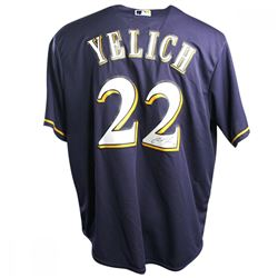 Christian Yelich Signed Milwaukee Brewers Jersey (Steiner COA)