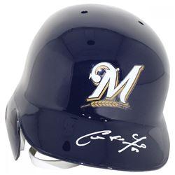 Christian Yelich Signed Milwaukee Brewers Full-Size Batting Helmet (Steiner Hologram)