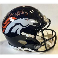 Drew Lock Signed Denver Broncos Full-Size Authentic On-Field Speed Helmet (Beckett COA)