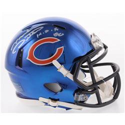 "Mike Ditka Signed Chicago Bears Chrome Speed Mini-Helmet Inscribed ""H.O.F. 80"" (Radtke COA)"