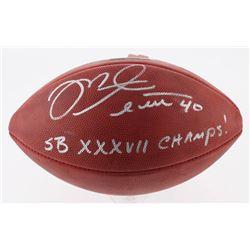 "Mike Alstott Signed Official Super Bowl XXXVII Game Ball Inscribed ""SB XXXVII Champs!"" (Radtke COA)"