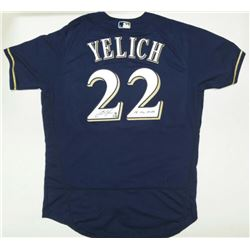 """Christian Yelich Signed Milwaukee Brewers Jersey Inscribed """"18 NL MVP"""" (Steiner Hologram)"""