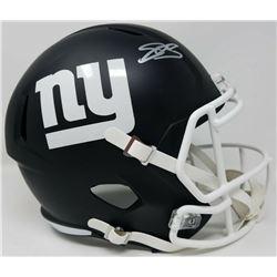 Saquon Barkley Signed New York Giants Full-Size Matte Black Speed Helmet (Panini COA)