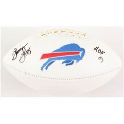 "Thurman Thomas Signed Buffalo Bills Logo Football Inscribed ""HOF 07"" (Radtke COA)"