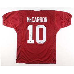"AJ McCarron Signed Jersey Inscribed ""36-4 Career Records""  ""3x National Champ"" (Radtke COA)"
