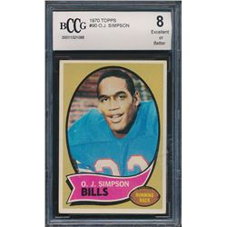 1970 Topps #90 O.J. Simpson RC (BCCG 8)