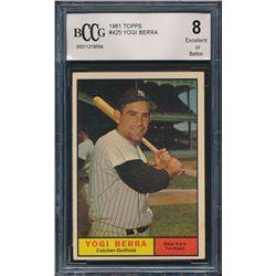 1961 Topps #425 Yogi Berra (BCCG 8)