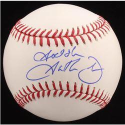 """Garth Brooks Signed OML Baseball Inscribed """"God Bless"""" (PSA COA)"""
