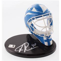 Tuukka Rask Signed Finland Mini Goalie Mask with Display Stand (Rask COA)