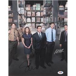 """The Office"" 11x14 Photo Cast-Signed by (4) With Steve Carell, Jenna Fischer, Rainn Wilson  B.J. Nov"
