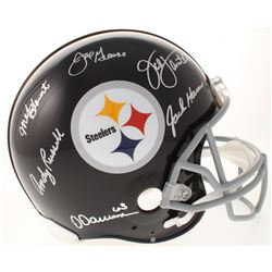 Defensive Greats Pittsburgh Steelers Full-Size Authentic On-Field Throwback Helmet Signed by (6) wit