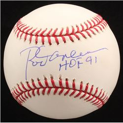 "Rod Carew Signed OML Baseball Inscribed ""HOF 91"" (PSA COA)"